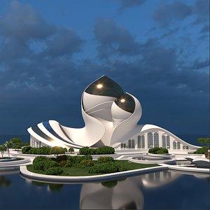 structure concept conceptual 3D model