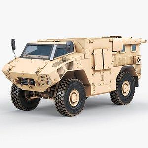 Military Vehicle NIMR JAIS 4x4 3D model