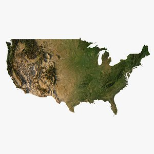 Relief map of USA 3D model 3D