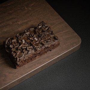 3D brownie food model
