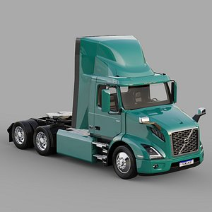 3D Volvo VNR Electric 6x2 Tractor 2021