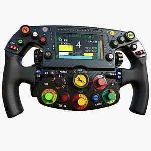 F1 Steering Wheel Generic 2022 3D model