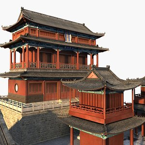 3D model chinese temple