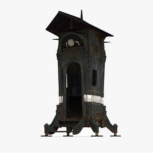 3D Retro pavilions model