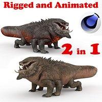 Basilisk Rigged and Animated