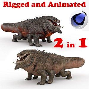 Basilisk Rigged and Animated 3D model