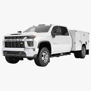 3D model Chevrolet Silverado 3500 HD 2021 Enclosed Utility 01