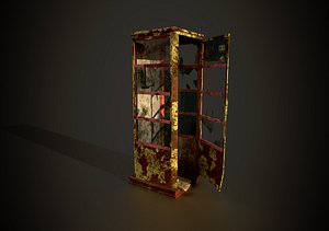 3D phone booth model