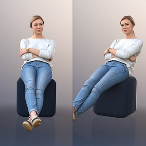 10086 Ramona - Sitting Casual Woman Leaning Back 3D model