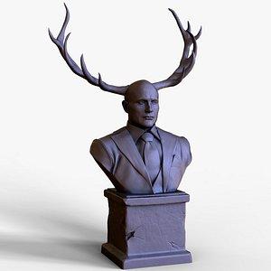 MADS MIKKELSEN HANNIBAL LECTER WENDIGO BUST 3D model