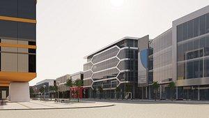 3D model Shopping street - boulevard