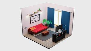 Guest Room 1 3D model