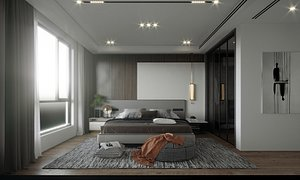 Modern Style Bedroom - 538 3D