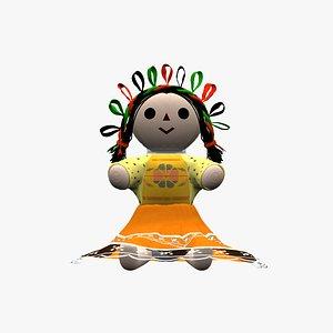 3D model mexican doll lele