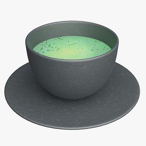 Matcha green tea 3D model
