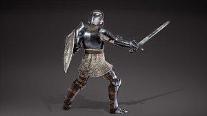 medieval knight 3D model