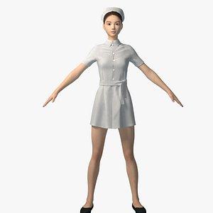 doctor nurse woman 3D model