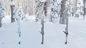 3D sword weapon model