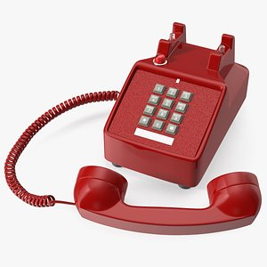 Bittel Retro Telephone Off Hook 3D model
