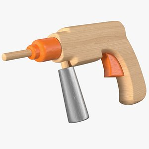 3D Wooden Drill Toy model