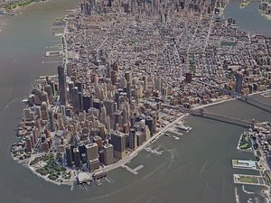 york city manhattan 3D