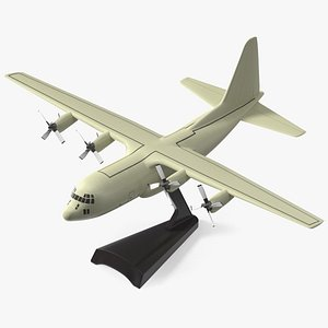 Turboprop Military Transport Aircraft Scale Model with Stand 3D model