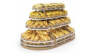 bread shelving 3D model