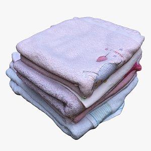 pile towels 3D model