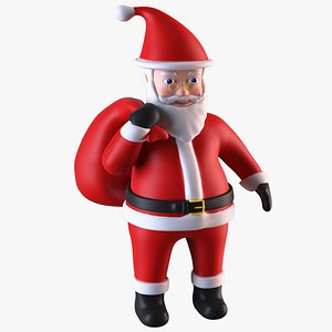 3D model santa claus decorative figurine