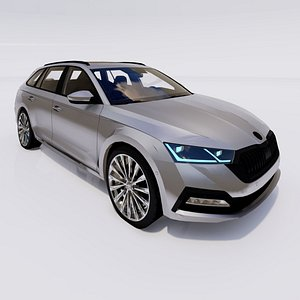 3D 2021 Skoda Octavia Combi model