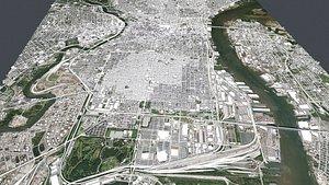 Cityscape Philadelphia Pennsylvania USA 3D model