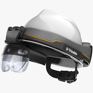 Trimble XR10 with HoloLens 2 3D model