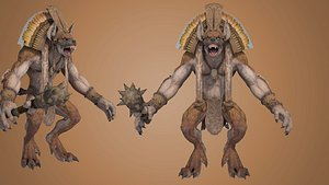 gnoll rpg character 3D