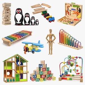 Wooden Toys Collection 5 3D model