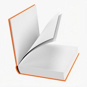 3D Open book mockup 04 model