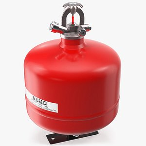 3D automatic dry chemical extinguisher