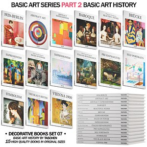 048 Decorative books set 07 Basic Art Series PART 02 3D