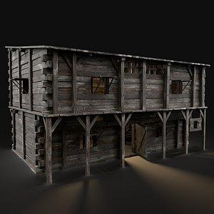 medieval inn fantasy 3D model