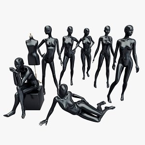 Manequins Set 3D model