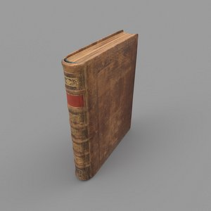3D old scratched book