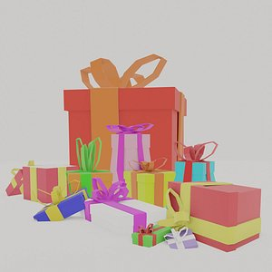 gift holiday giftbox 3D model