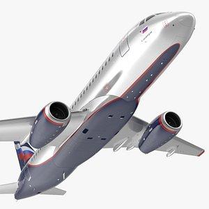 Sukhoi Superjet 100 95lr Aeroflot Flight model