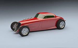 3D 1933 hot rod model