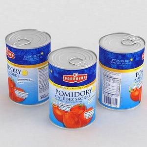 Food Can Podravka Whole Peeled Tomatoes 400g 2021 3D model