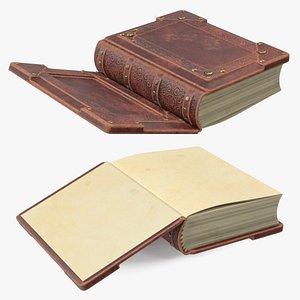 3D Vintage Ornate Book Brown Leather