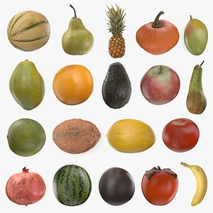 3D Scanned Fruit Collection model