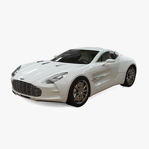 3D Aston Martin One-77 model