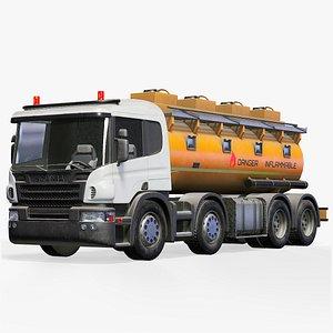 3D model Scania Fuel Tank Truck Lowpoly PBR