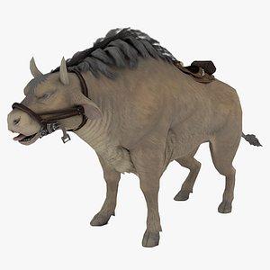 3D African Buffalo Syncerus Caffer 3D model model