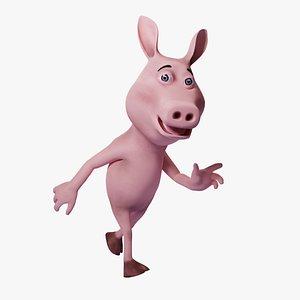 Toon Humanoid Pig 3D
